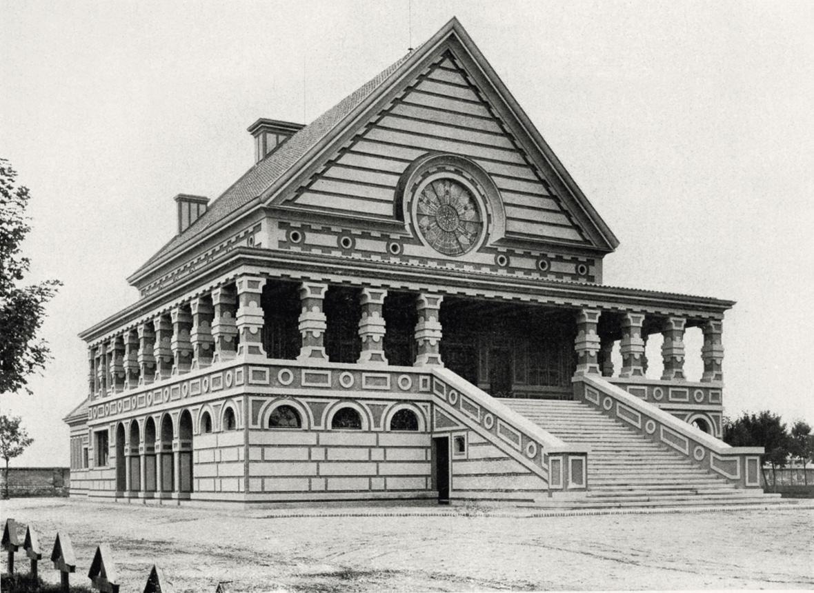 Krematorium v Pardubicích do architekta Pavla Janáka, 1922-23