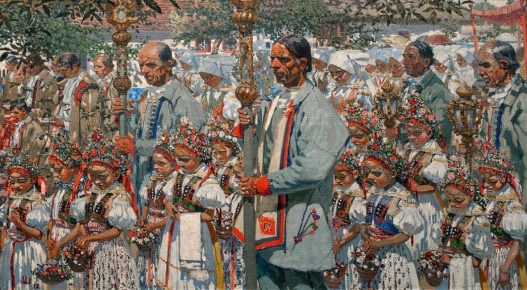 Joža Uprka / Boží ve Velké, 1902