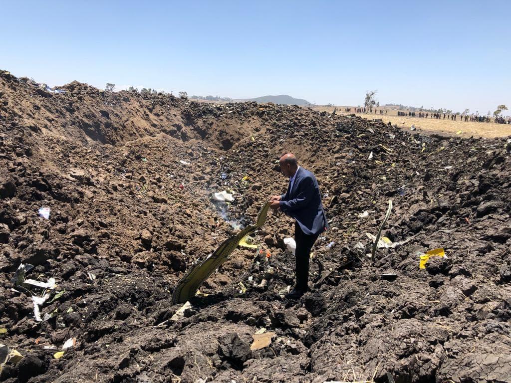 Místo, kde havaroval etiopský boeing