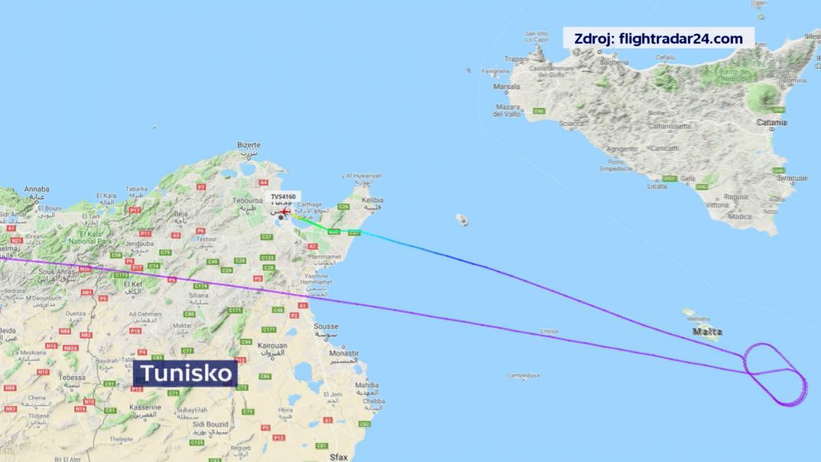 Letadlo z Kapverdských ostrovů bylo odkloněno do Tunisu
