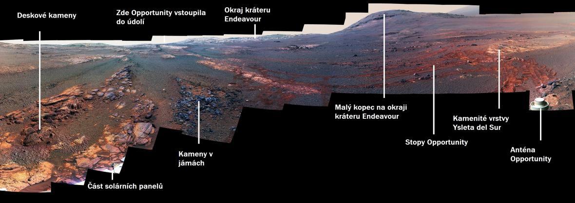 Poslední snímek sondy Opportunity