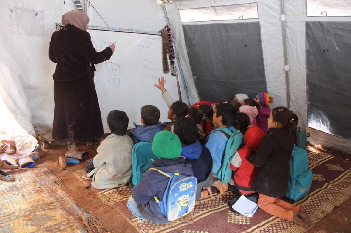 Škola v uprchlickém táboře