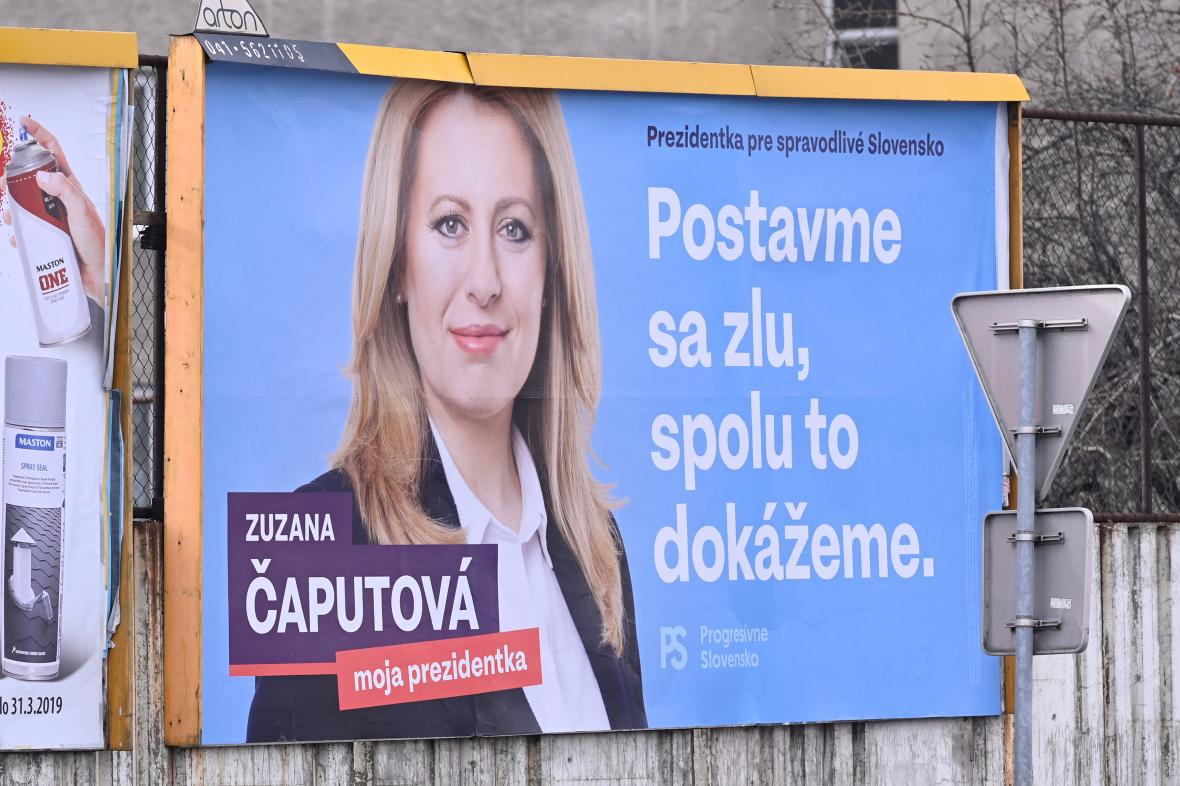 Předvolební plakát Zuzany Čaputové