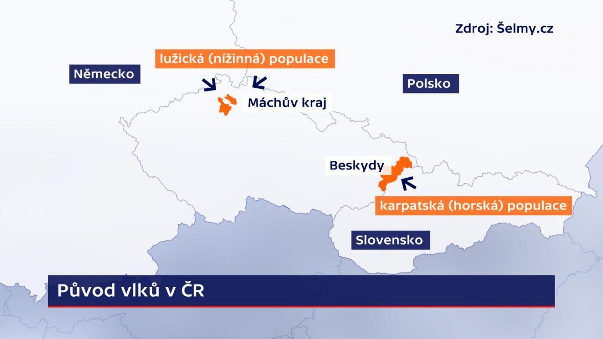 Původ vlků v ČR