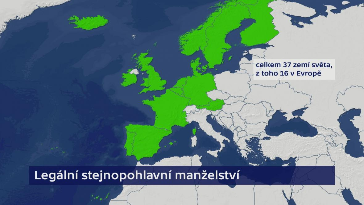 Legální stejnopohlavní manželství v Evropě