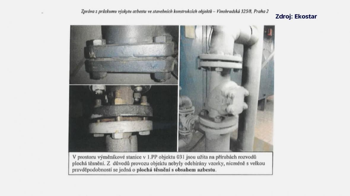 Zpráva z průzkumu výskytu azbestu