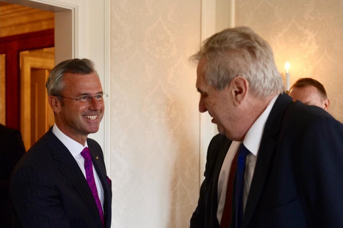 Norbert Hofer a Miloš Zeman