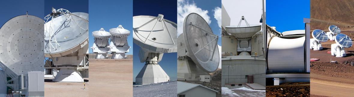 Osm teleskopů, které sledovaly černé díry