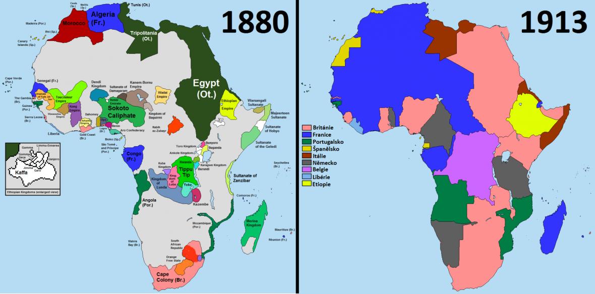 Státní útvary a koloniální panství v Africe