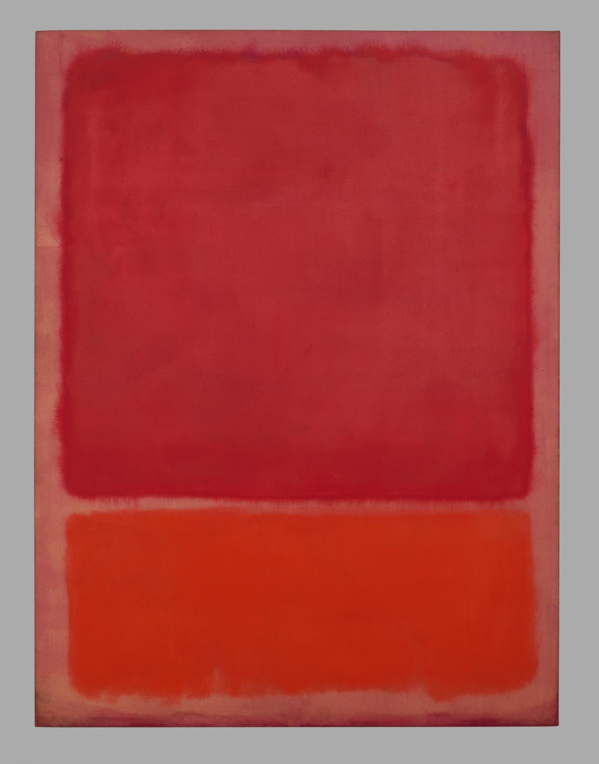 Bez názvu (Červená, Oranžová), 1968