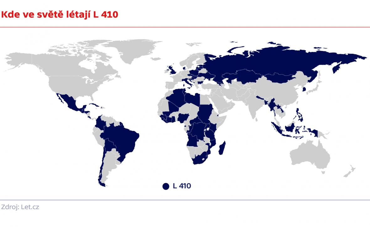 Kde ve světě létají L 410