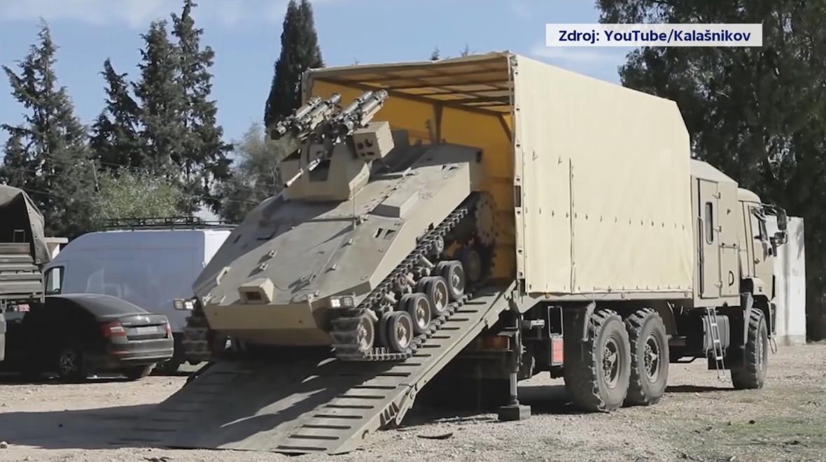 Autonomní tank firmy Kalašnikov