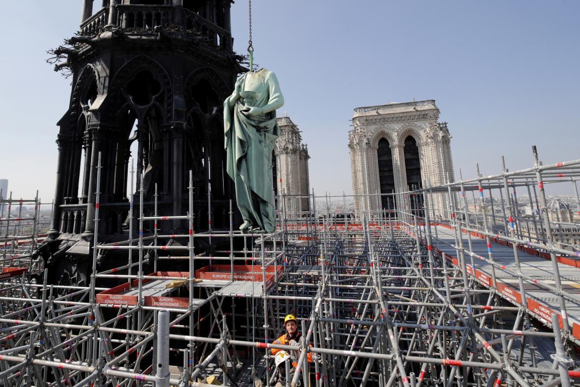 V katedrále probíhaly rozsáhlé restaurátorské práce