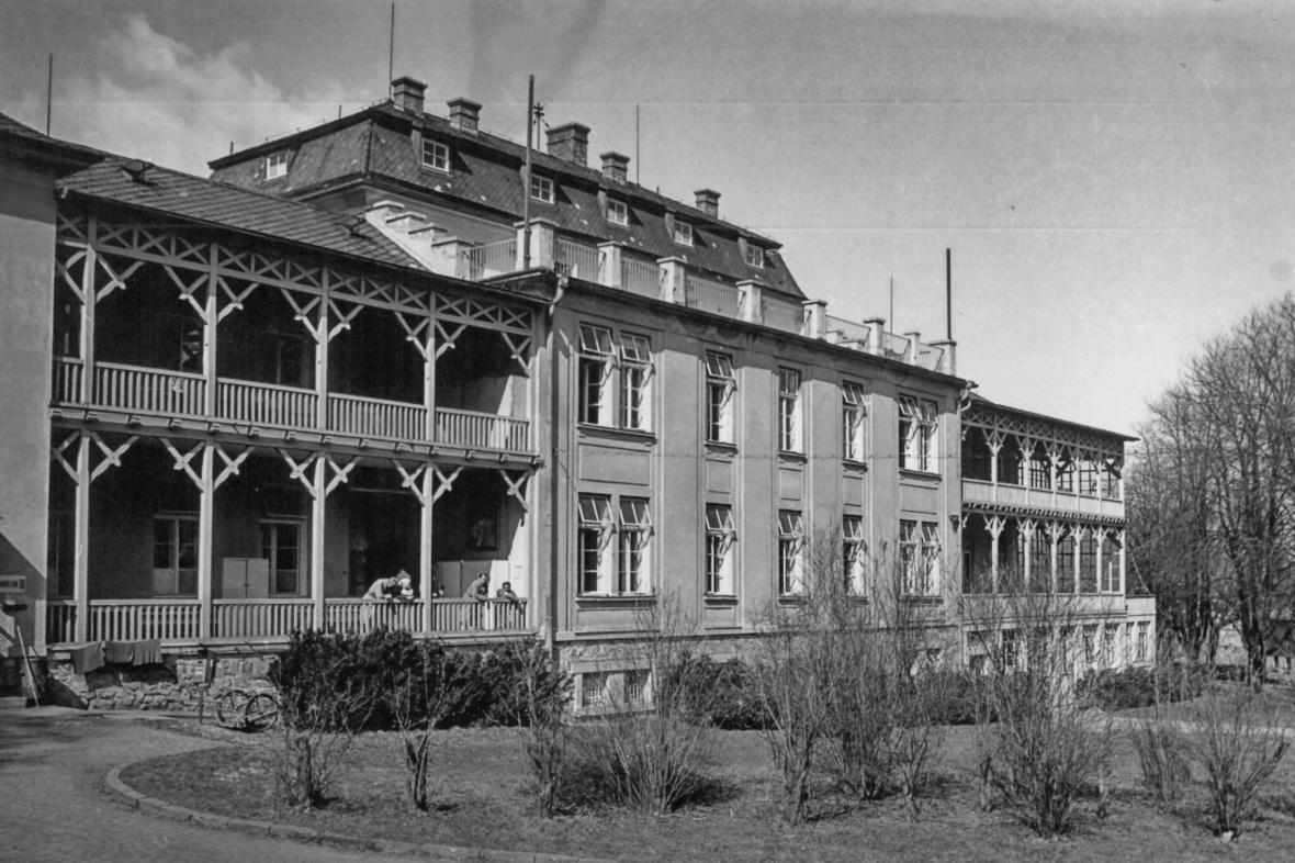 Původní podoba pavilonu pro tuberkulózní pacienty