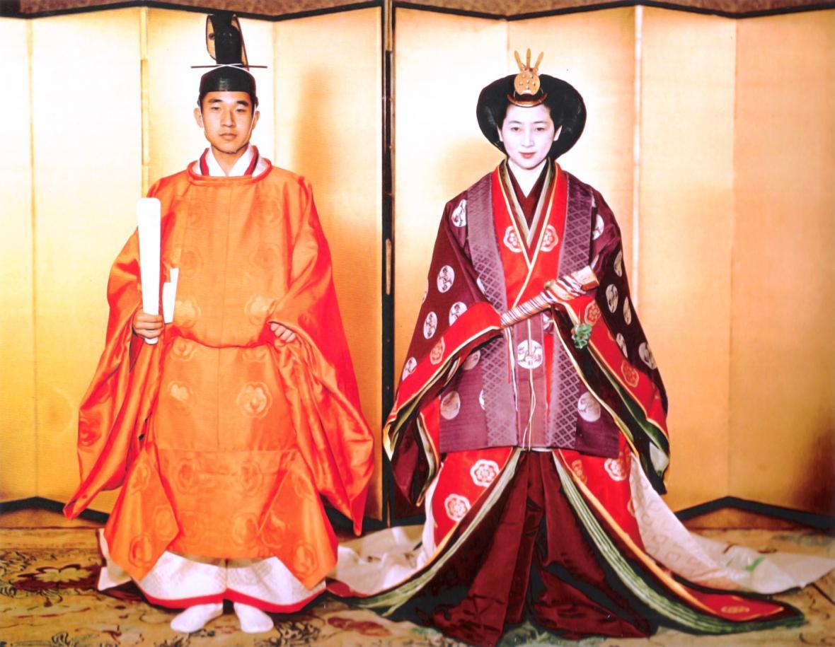 Svatba Akihita a Mičiko v roce 1959