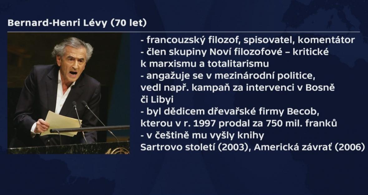 Francouzský filosof Bernard-Henri Lévy