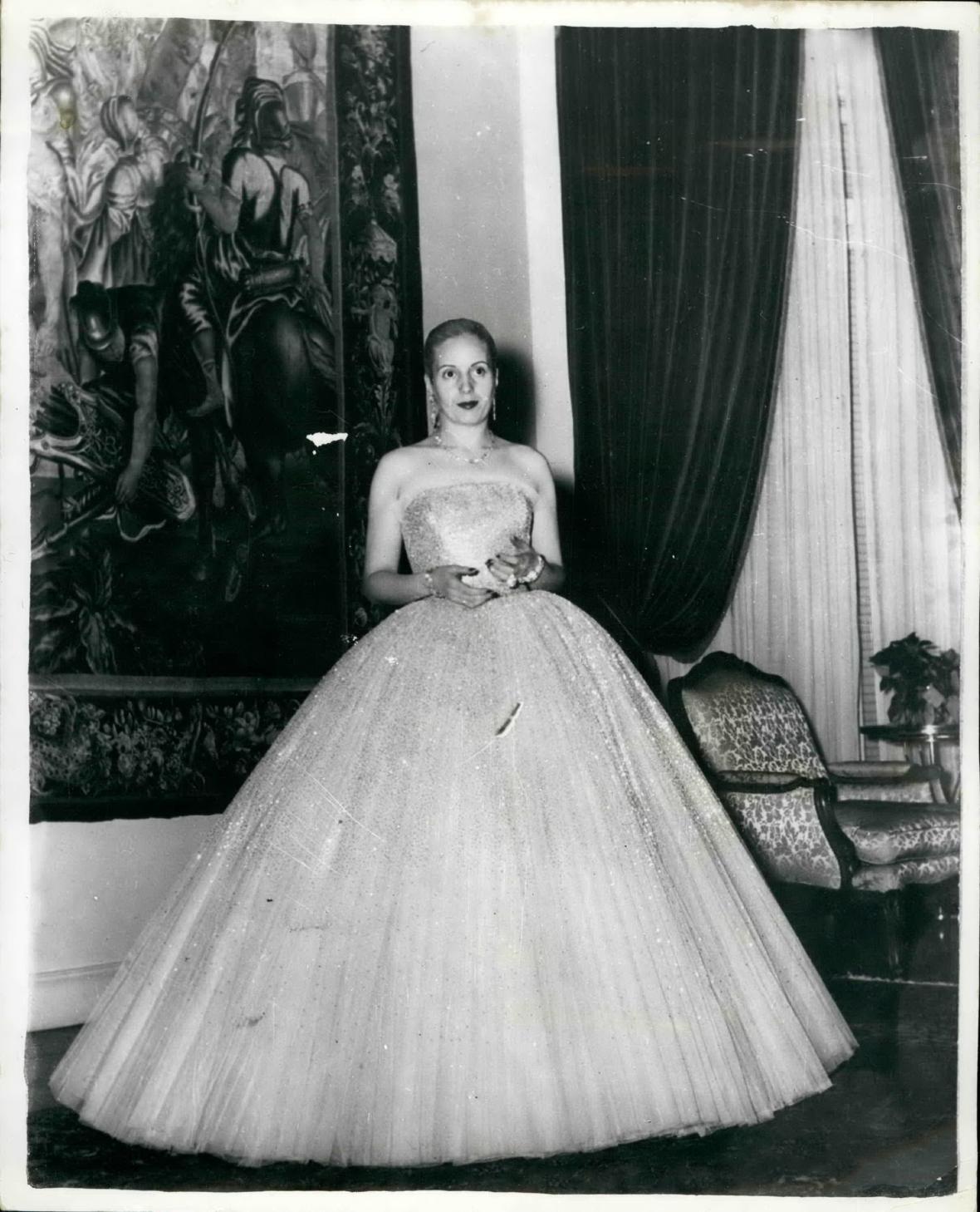 Evita Perónová v róbě od Diora