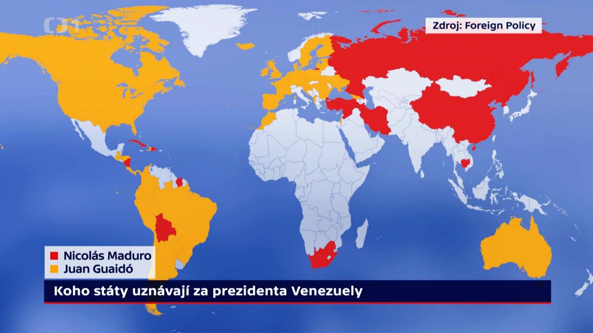 Koho státy uznávají prezidentem Venezuely