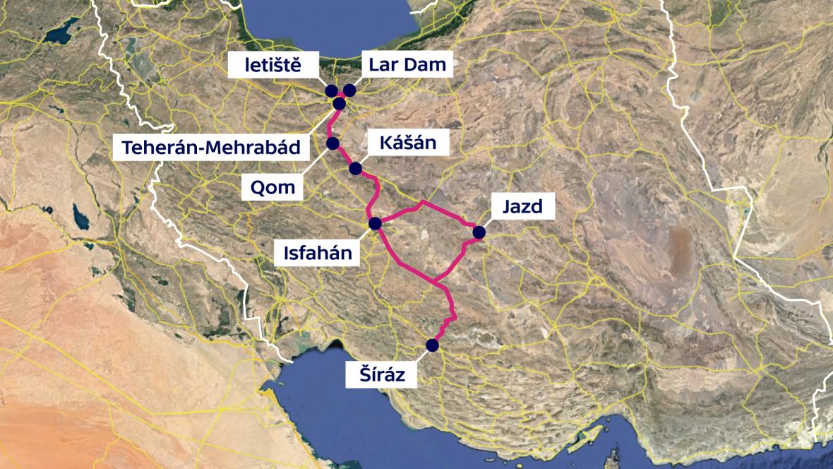 Cesta po Íránu