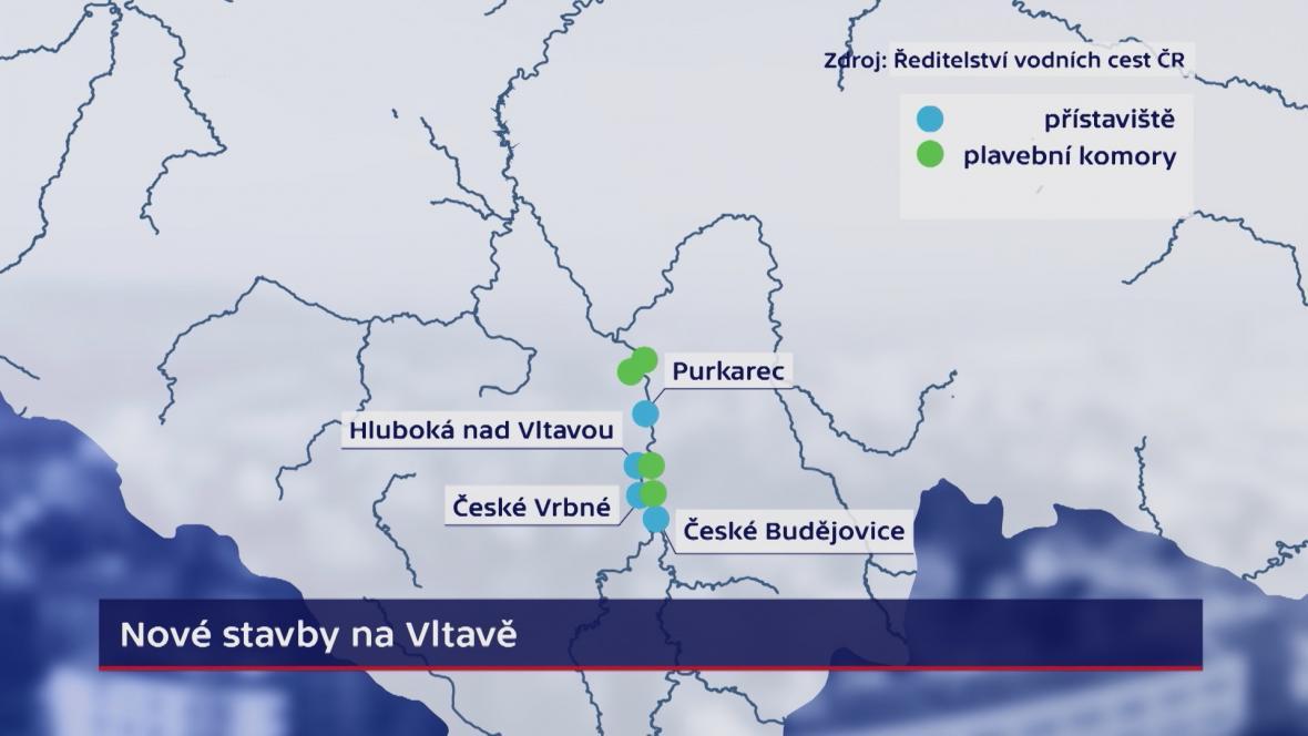 Nové stavby na Vltavě