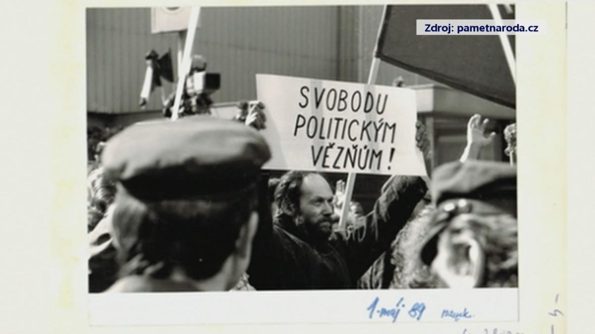 Protest Kamila Černého (1. 5. 1989)