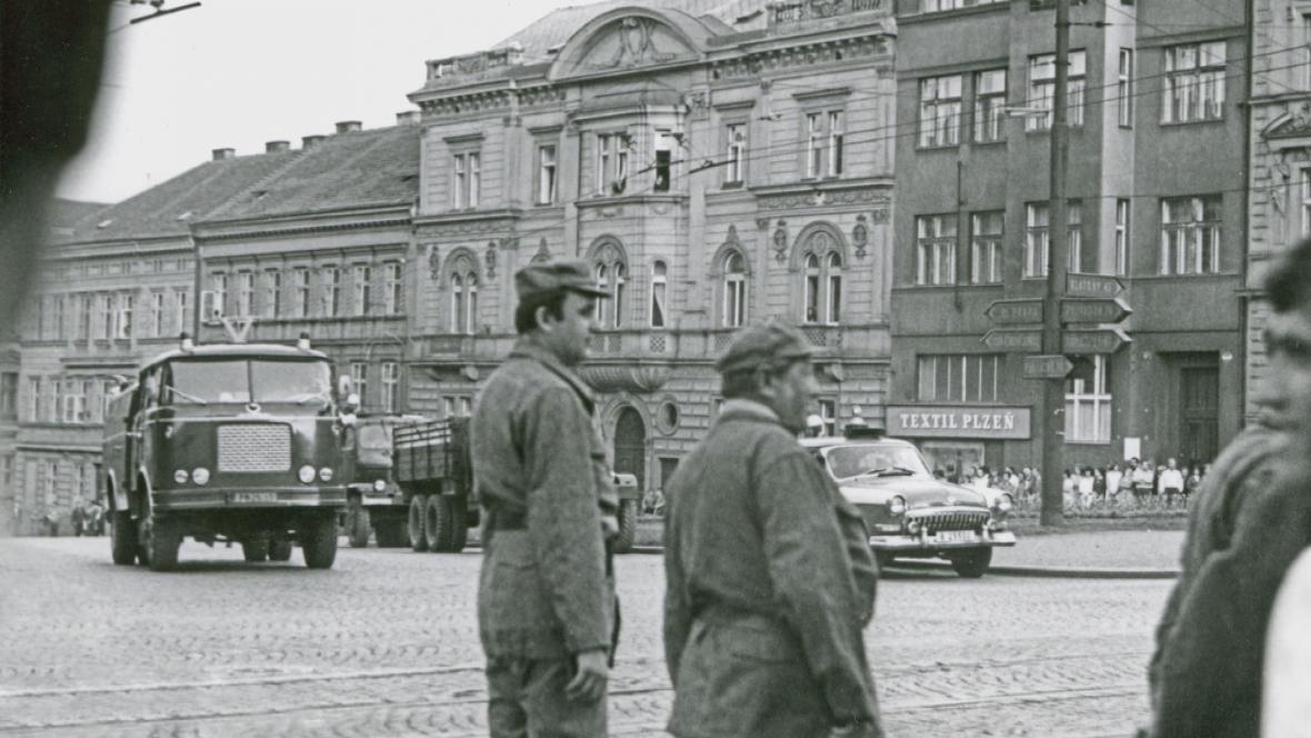 Potlačené oslavy osvobození Plzně americkou armádou v květnu 1969