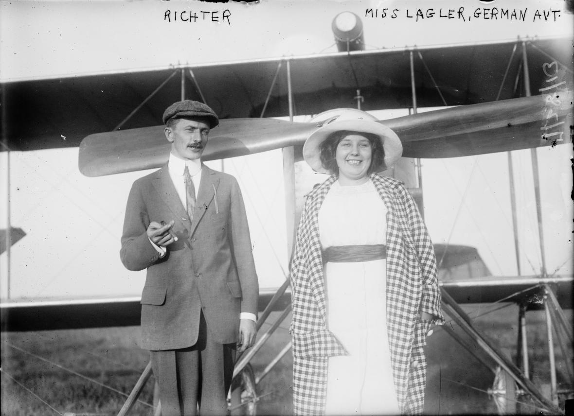 Božena Laglerová na snímku z roku 1913