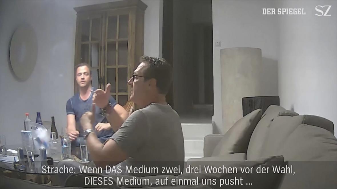 Heinz-Christian Strache na skandálním videu