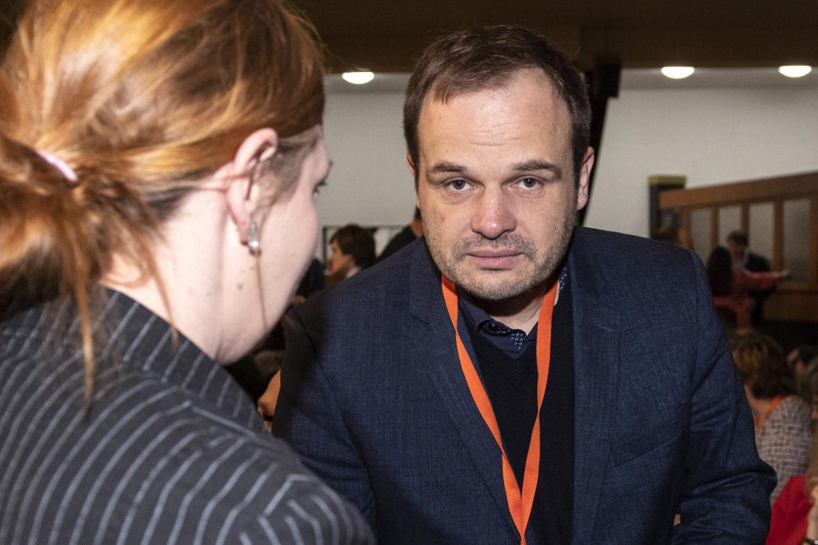 Michal Šmarda na březnovém sjezdu ČSSD