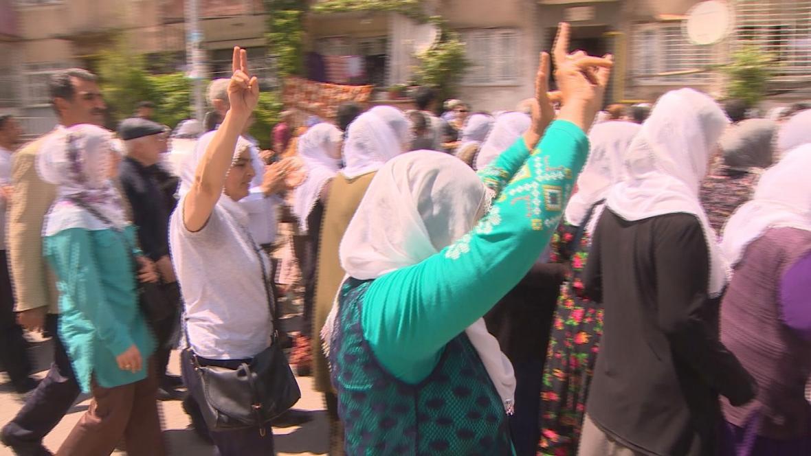 Protesty kurdských žen