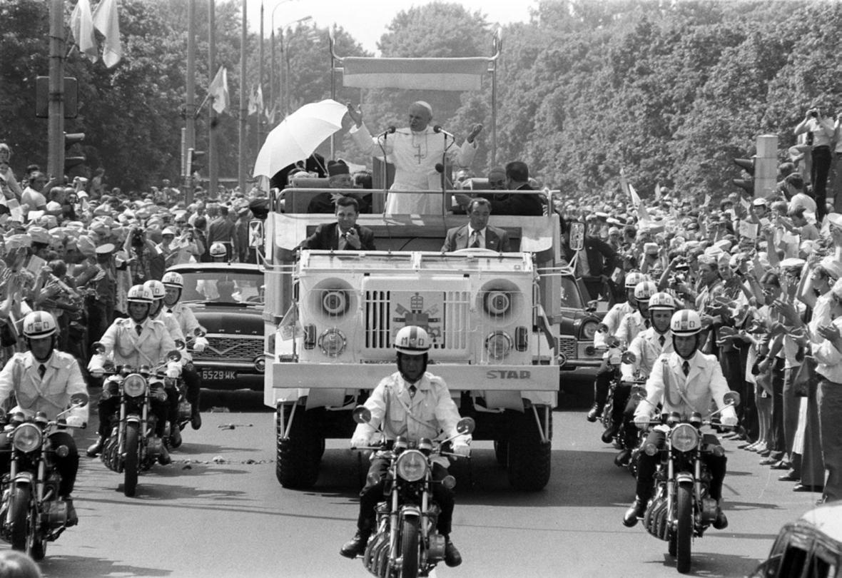Příjezd Jana Pavla II. do Varšavy