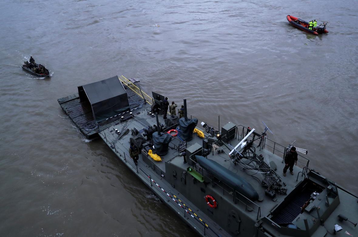 Záchranná operace na Dunaji