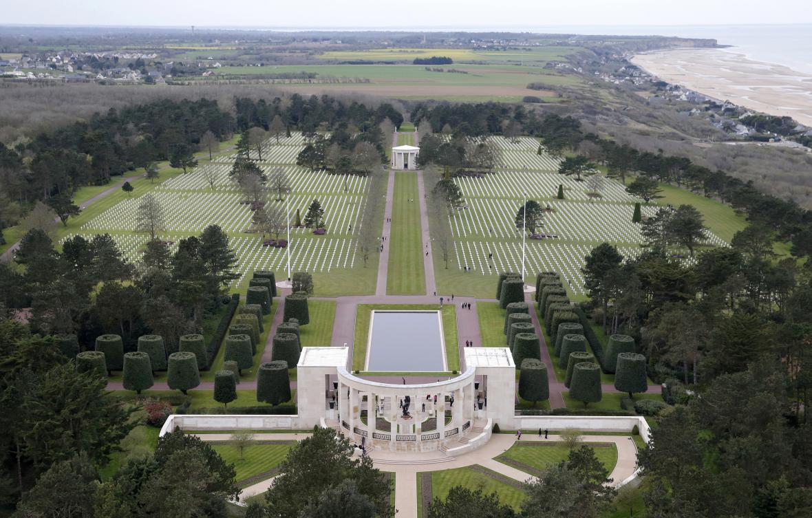 Letecký pohled na hřbitov