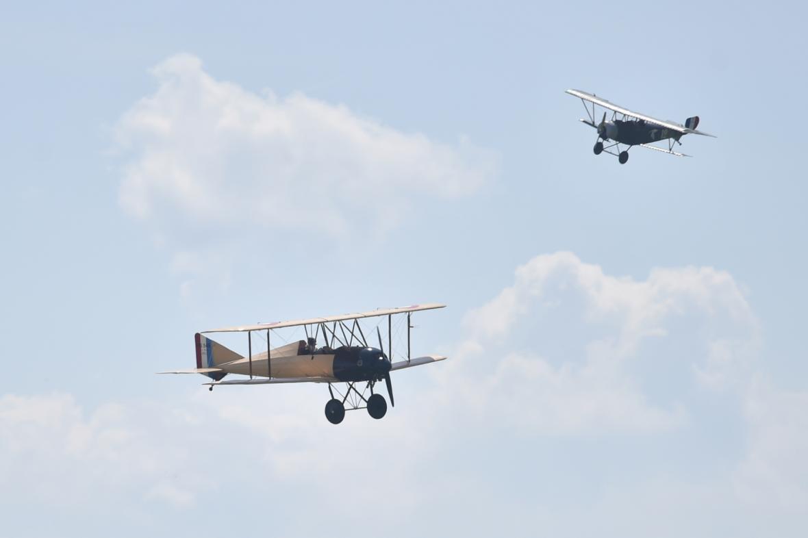 Ukázky historických letadel