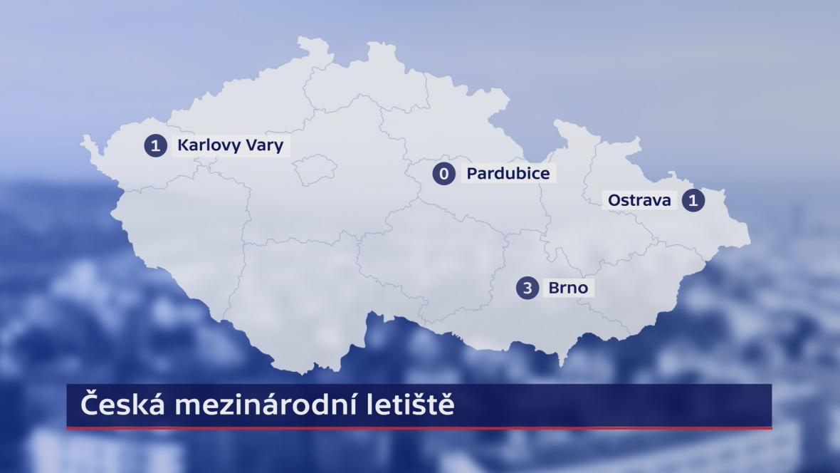 Kolik spojů bude létat z českých mezinárodních letišť mimo Prahu?
