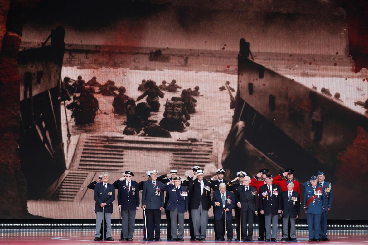 Oslavy konce války v britském Portsmouthu