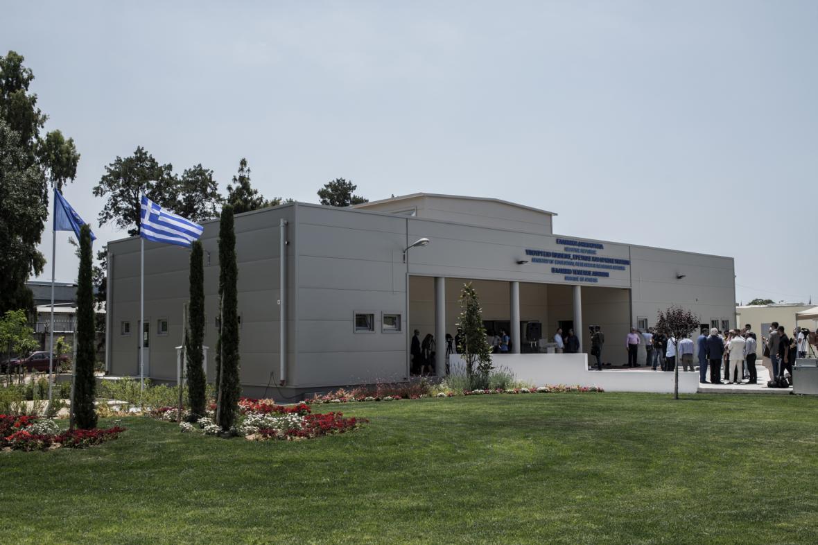 Nová mešita stojí na západním předměstí Atén, nedaleko uprchlického tábora