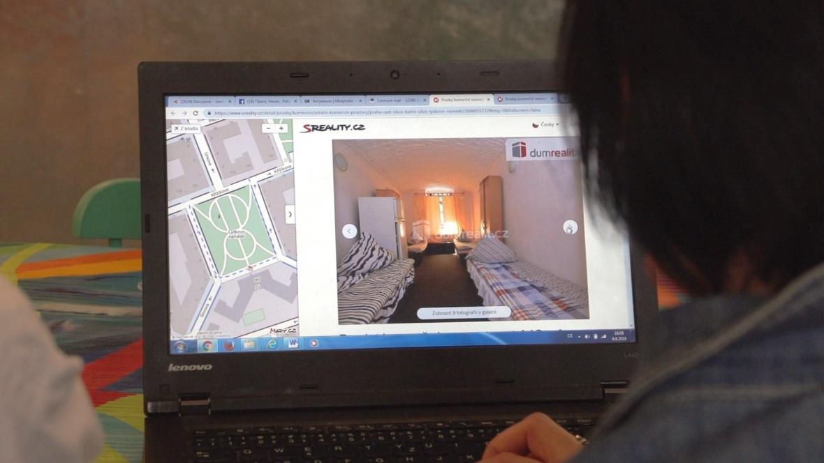 Realitní kancelář nabízí ubytování v prostorách, kde mají být kanceláře