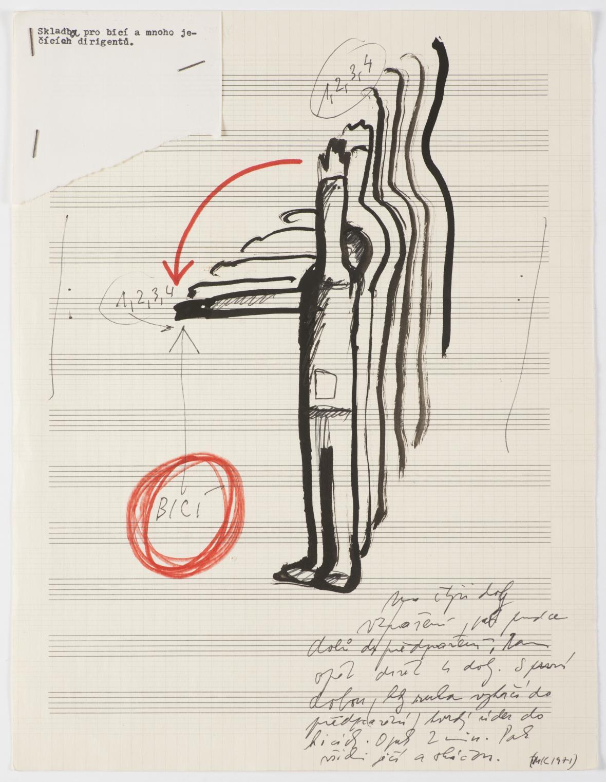 Milan Knížák / Actual Music (partitury), kolem 1965, Galerie hlavního města Prahy