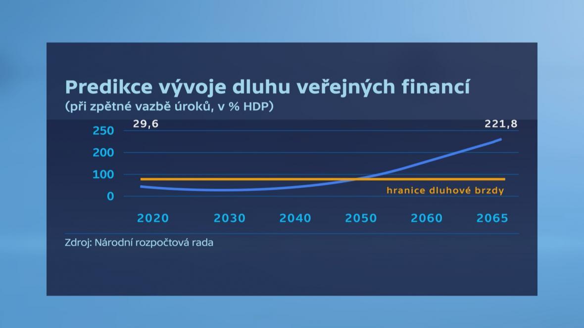 Predikce vývoje dluhu veřejných financí