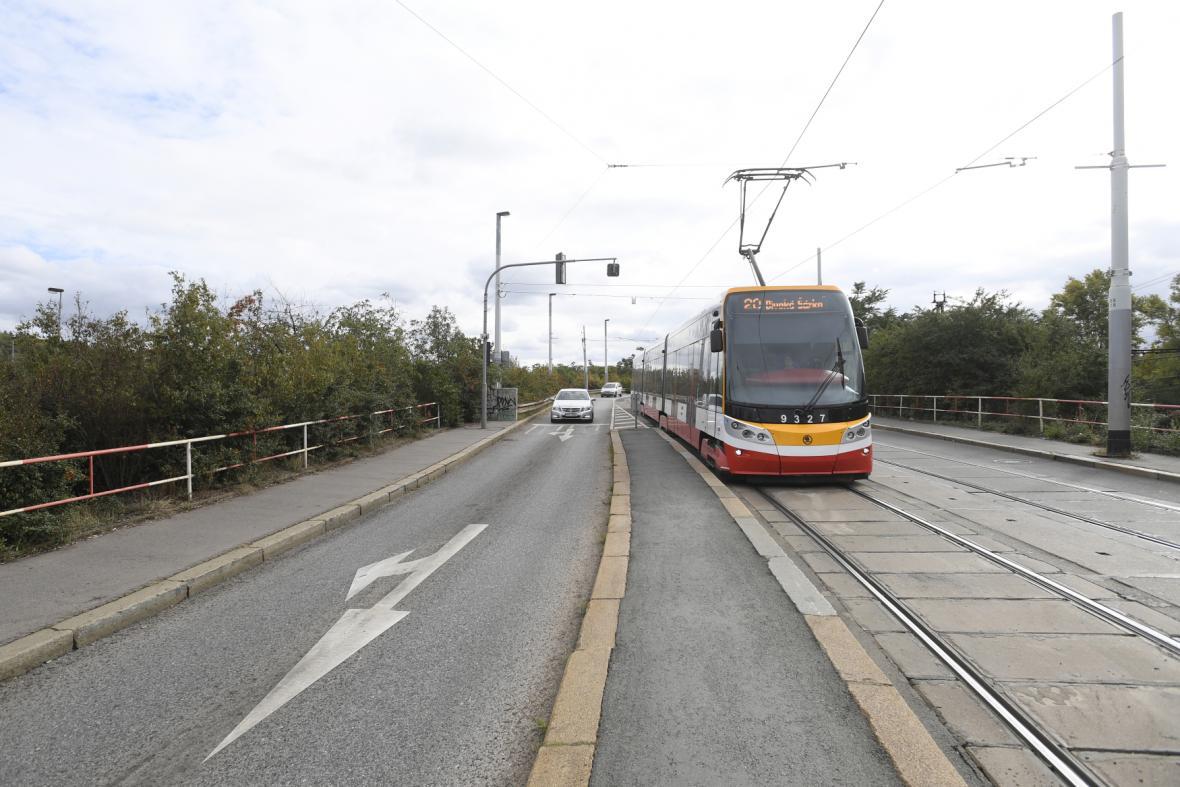 Stará trať v Nádražní ulici
