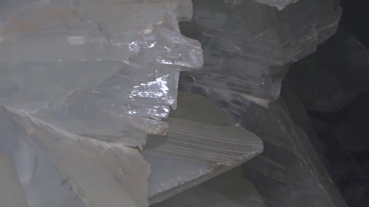 Krystaly v geodě v Pulpí
