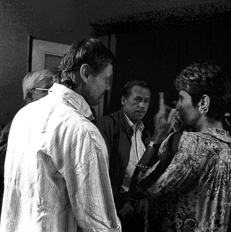 Vladimír Merta, Václav Havel a Joan Baezová v zákulisí Lyry