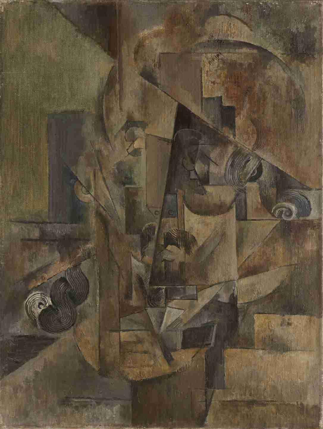 Emil Filla / Hlava starce, 1914