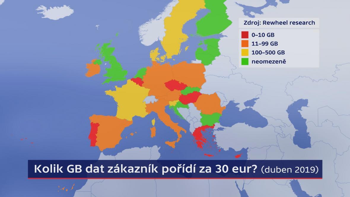 Mobilní data v Evropě