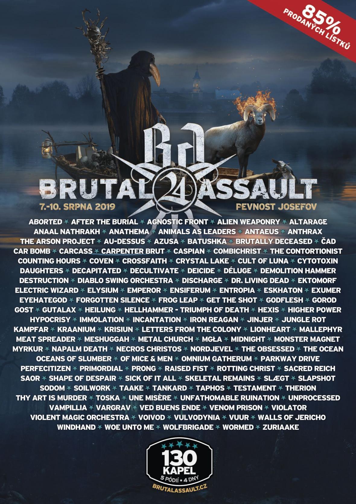 Plakát Brutal Assault, 24. ročník
