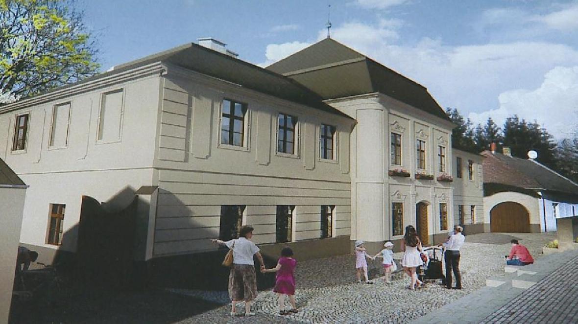 Vizualizace opravené Klapperothovy manufaktury v Šumperku
