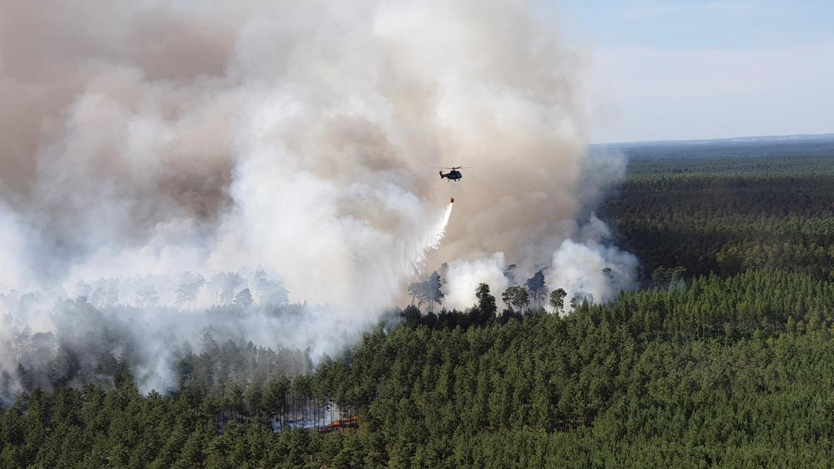Lesní požár v Německu