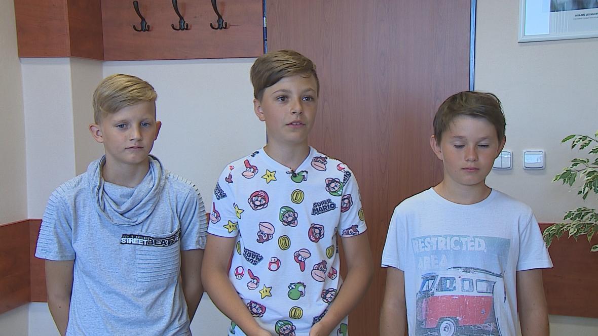 Trojice zachránců