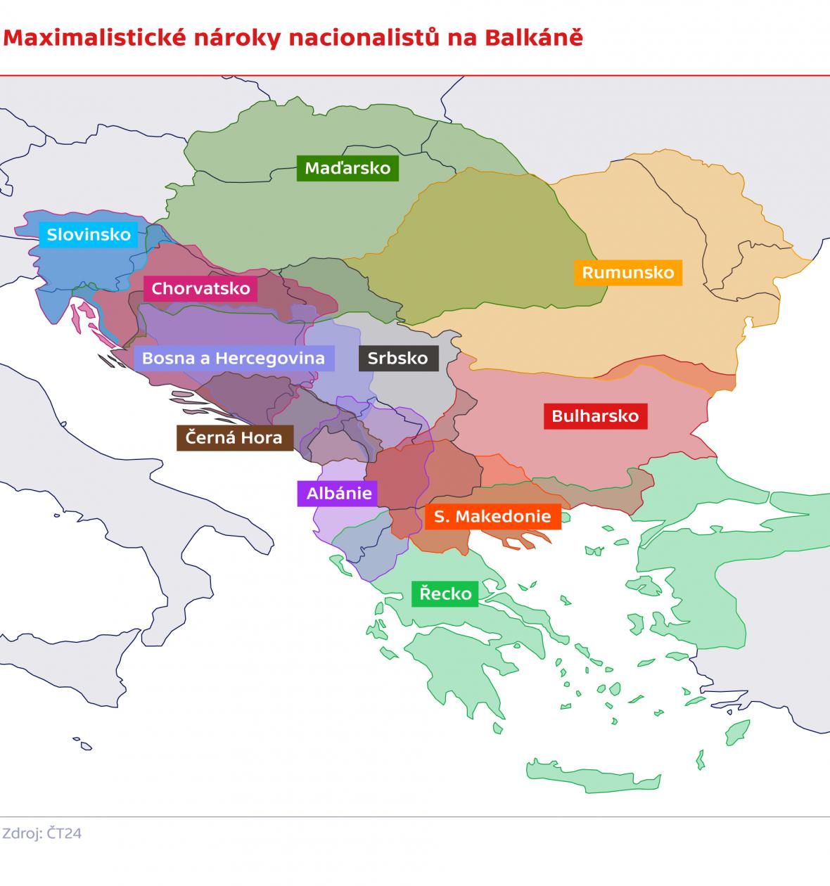Maximalistické nároky národů na Balkáně